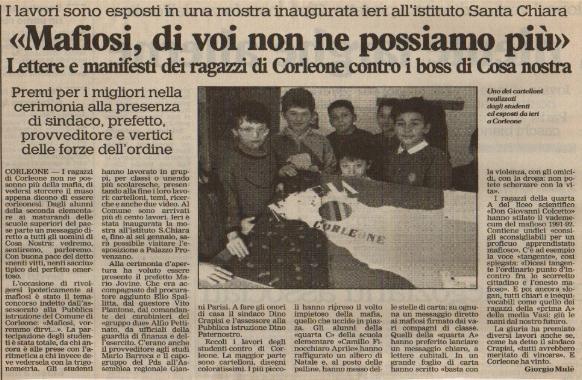 Giornale di Sicilia 22 Dicembre '91